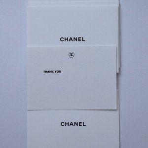 5 CHANEL THANK YOU Greeting Card & Envelope Set